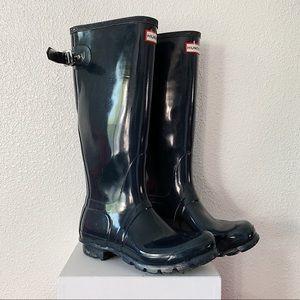 Hunter Wellies Tall Navy Boots